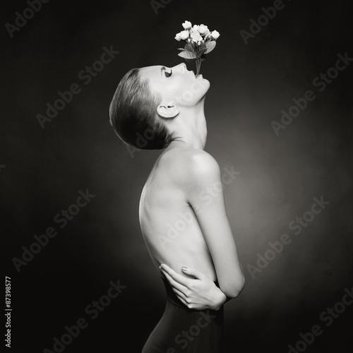 Elegant naked lady Canvas-taulu