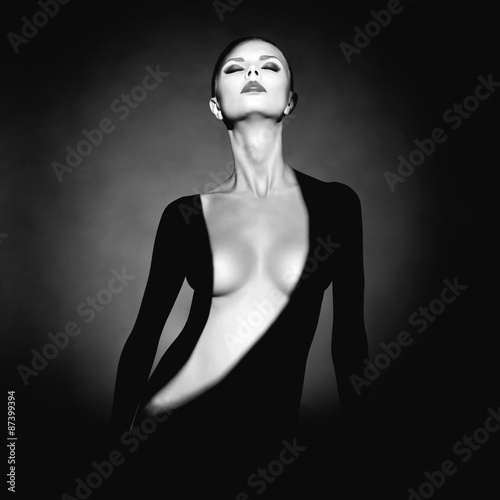 Canvas Prints womenART Gorgeous young lady with shadow on her body