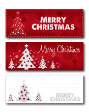Merry Christmas Banner Illustration Design Text Outline No Drop Shadow On The .eps  Version 10