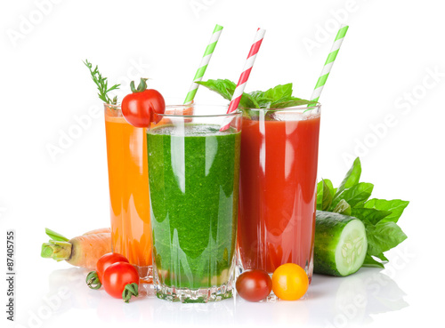 Staande foto Sap Fresh vegetable smoothie