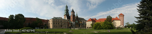 Wawel Cathedral and the Royal Palace in Krakow, Poland. #87407941