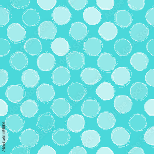 Wall mural - Seamless circles pattern