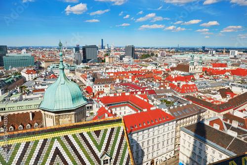 Aerial view of city center in Vienna Tapéta, Fotótapéta