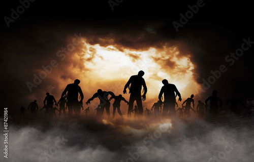 halloween festival illustration and background #87421984
