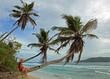 femme seychelloise sur plage