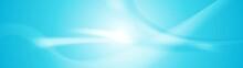 Abstract Shiny Blue Wavy Banner