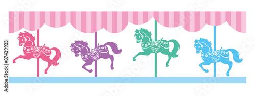 Fotografie, Obraz  メリーゴーラウンド(馬)のライン