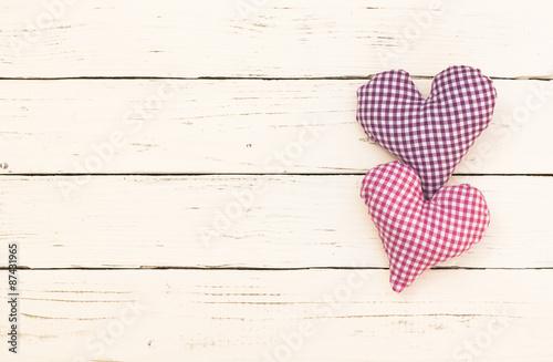 Zwei Herzchen Pink und Violett