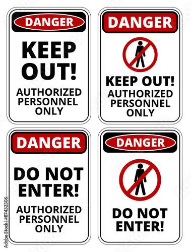 Fotografie, Obraz  Danger sign