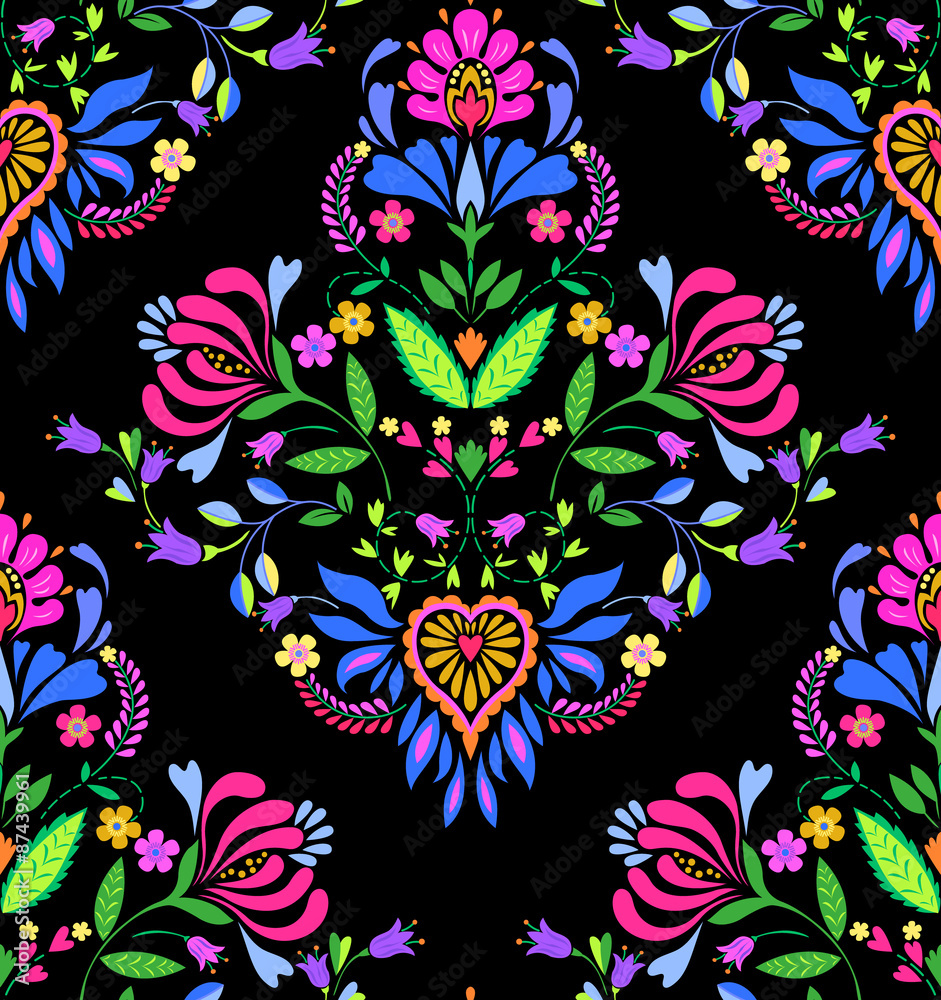 seamless Polish pattern