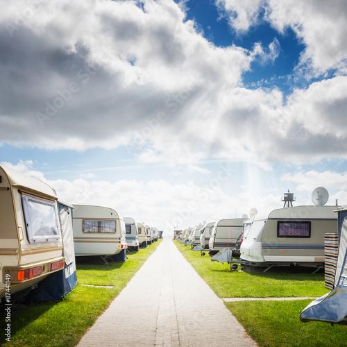 Fotografering  Caravan camping.