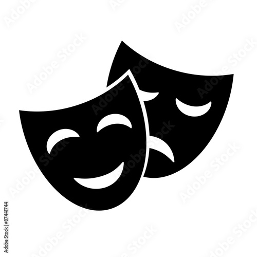 Mask vector icon. Wallpaper Mural