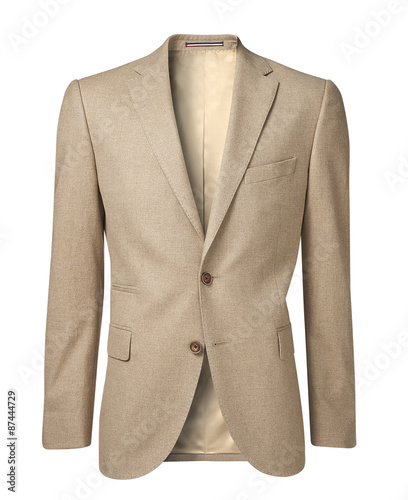 mens jacket isolated on white with clipping path Canvas Print