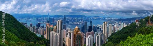 Fotografia Panoramic skyline and cityscape of Hongkong