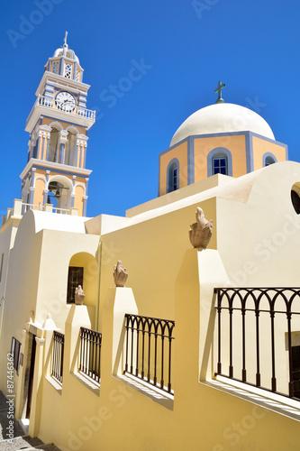 Poster Monument Church architecture in Santorini