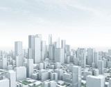 Smart City: Panorama – Wolkenkratzer Skyline