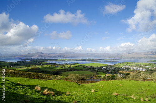 Bantry Bay from Seskin Hill Canvas Print
