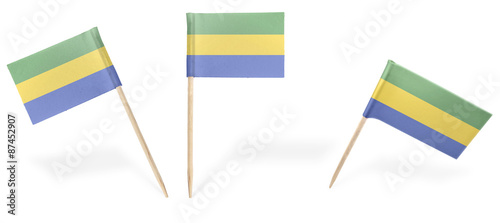 Fotografie, Obraz  Various cocktail flags of Gabon isolated on white.(series)