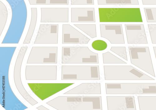 Plakat Mapa miasta