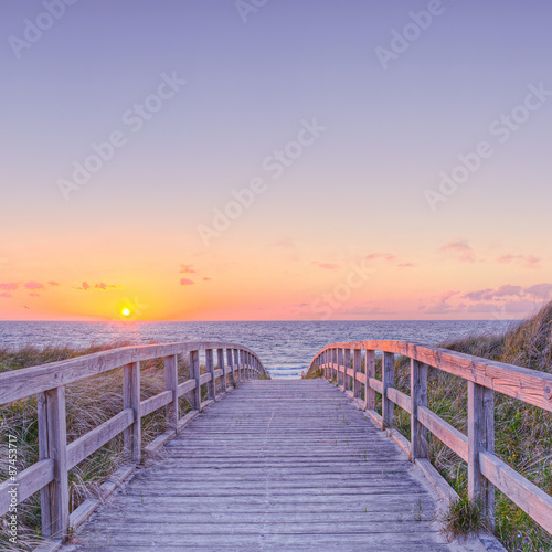 Spoed Foto op Canvas Bruggen strand