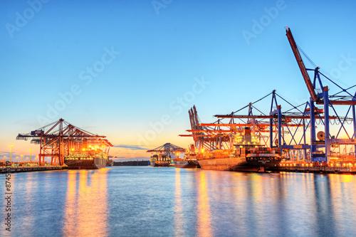 fototapeta na ścianę Hamburger Hafen Container