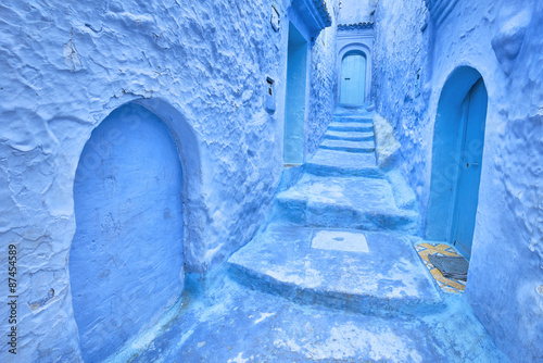 Papiers peints Maroc Medina of Chefchaouen, Morocco. Chefchaouen or Chaouen is known that the houses in this city are painted in blue.