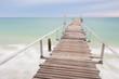 Wood Bridge on the beach at Samet Island, Thailand