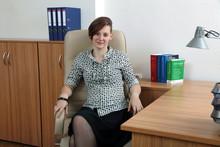 Dziewczyna Biznesu W Biurze.