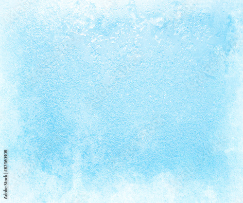 Glass covered with ice during the severe frosts in winter Fototapeta