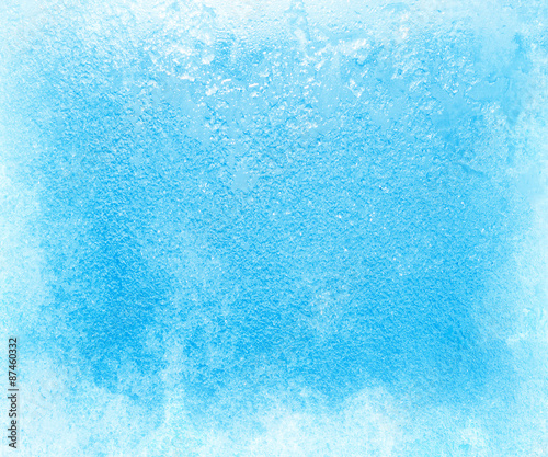 Fotografie, Tablou Glass covered with ice during the severe frosts in winter