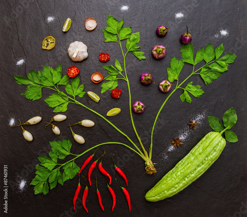 Spoed Foto op Canvas Natuur Tree on the vegetables.