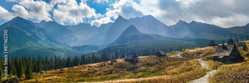 Aluminium Prints Mountains Hala Gasienicowa in Tatra Mountains - panorama