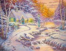 Original Oil Painting Christmas