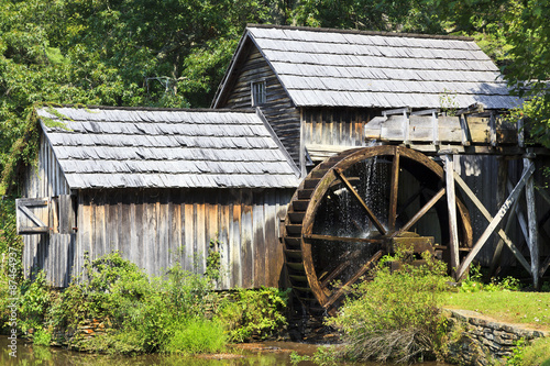 Aluminium Prints Mills Mabry Mill on the Blue Ridge Parkway in Late Summer