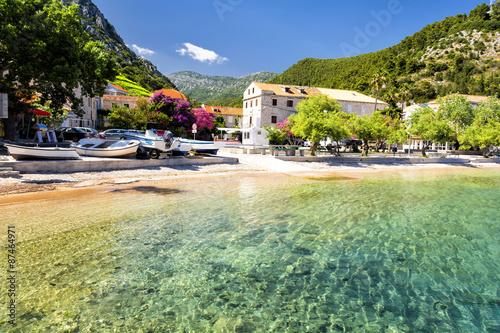 Poster Olive crystal clear water in Dalmatia on Peljesac peninsula, Croatia