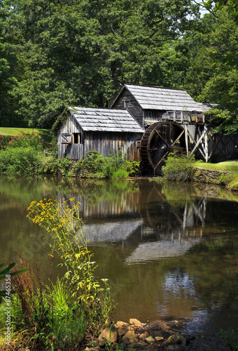 Poster Molens Mabry Mill on the Blue Ridge Parkway in Late Summer