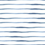 Dark Blue Vector Abstract Watercolor Seamless Striped Pattern