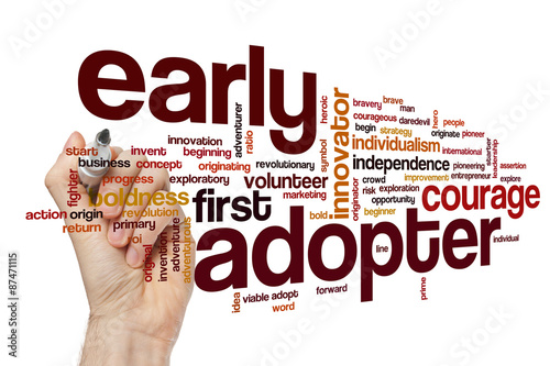 Photo Early adopter word cloud concept