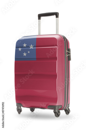 Fototapety, obrazy: Suitcase with national flag on it - Samoa