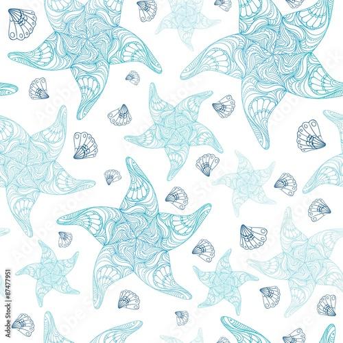 Fotografia, Obraz  Starsea Blue Pattern