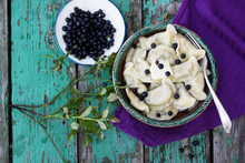 Dumplings With Blueberries, To...