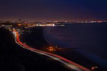 Shot Of Santa Monica And Surrounding Areas.