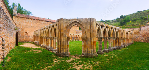 Gothic ruined cloister of San Juan de Duero