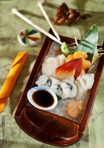 Poster Sushi bar japanese sashimi raw fish