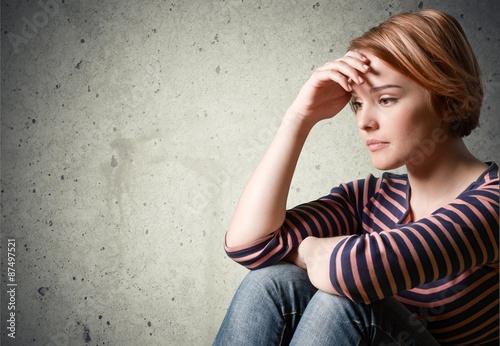 Fotografie, Obraz  Depression, Teenager, Sadness.