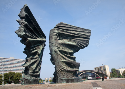 Silesian Insurgents Monument is located in the center Katowice (
