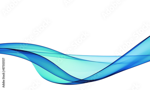 Deurstickers Abstract wave abstract blue, line, wave, fabric isolated on white background
