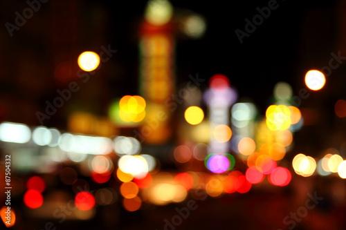 In de dag Las Vegas Abstract bokeh background of Christmaslight