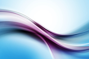 Abstract Blue Purple Waves Art Composition Background