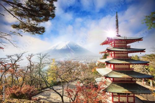 Fotobehang Tokyo Mt. Fuji with fall colors in Japan.